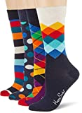Happy Socks Gemischt farbenfrohe Geschenkbox an Baumwollsocken für Männer und Frauen,Mehrfarbig (Mix Gift Box),36-40