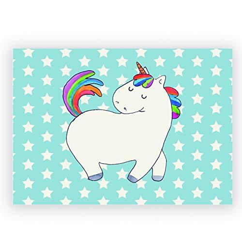 Mr. & Mrs. Panda Radiergummi Einhorn stolzierend - Einhorn, Einhörner, Unicorn, stolz, Anders, bunt, Pferd, Reiter, Reiten, Freundin, Geschenk Radiergummi, Radierer