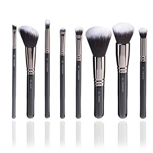 Laurena Essentials Set Brush – Pinceau Maquillage sans Animaux Tentative, 8 pièces, fait-main et tête lourde