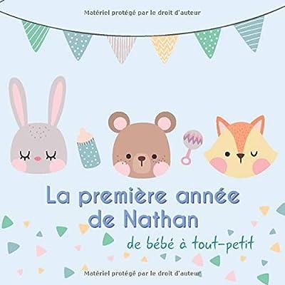 La première année de Nathan - de bébé à tout-petit: Album bébé à remplir pour la première année de vie - Album naissance garçon