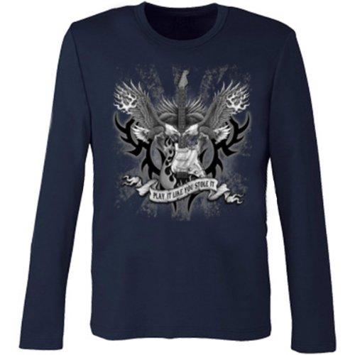 Marken Langarmshirt - Motiv Play It Like you Stole It - cooles Langarm Shirt Geschenk Herren Weihnachten Geburtstag Navy-Blau