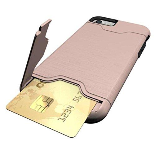 Hkfv Superb creative design iPhone case Amazing causale stile carta cavalletto custodia cover custodia per iPhone 811,9cm iPhone 8Plus 14cm iPhone 8 plus Pink