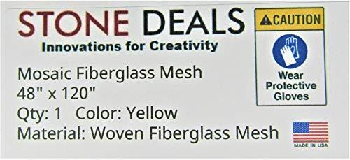 Stein Deals Mosaik Mesh für Rückseite montiert Tile 121,9x 304,8cm Licht Gelb -