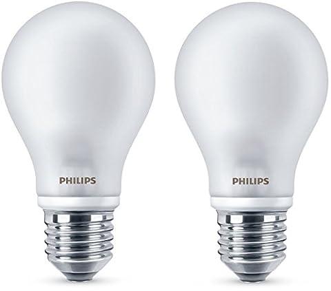 Philips Lot de 2 ampoules LED Classic 60W E27 230V