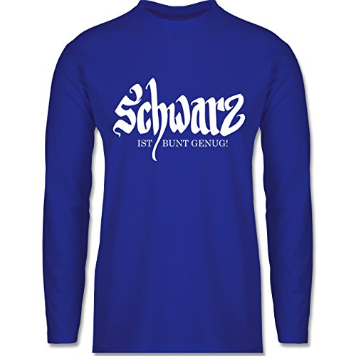 Shirtracer Nerds & Geeks - Schwarz ist Bunt Genug - Herren Langarmshirt Royalblau