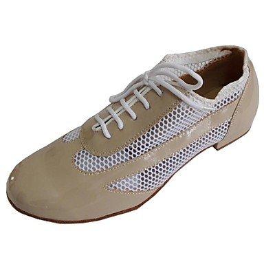 Ruhe @ Damen Rock und Roll Schuhe Kunstleder oberen Ballsaal Schuhe für Frauen Beige