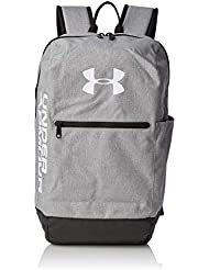 Under Armour UA Patterson Backpack Mochila, Unisex Adulto, Gris (Steel Medium Heather/Black/White 035), Talla única