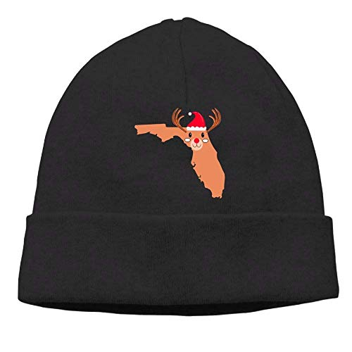 5156498cb7e GONIESA Warm Florida Christmas Deer Womens Beanie Hats Knitted Cap