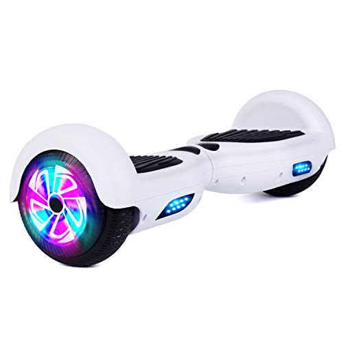 Felimoda Selbstabgleichender Roller Hoverboard-Schwebebrett für Kinder Erwachsene Elektroroller mit UL2272 zugelassenen Wheels LED Lights und Tragetasche