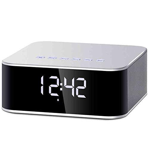 YYMN Altavoz Bluetooth, Escritorio Pantalla Grande Reloj Despertador Altavoz Bluetooth Tarjeta De...