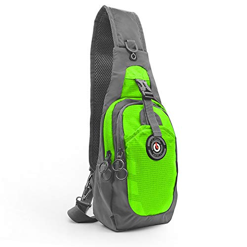 LC Prime Sling Bag Petto Zaino, RFID Blocking Piccola Borsa a Tracolla compatta, per Uomo Donna Travel Gym Sport Hiking, Upgrade Version