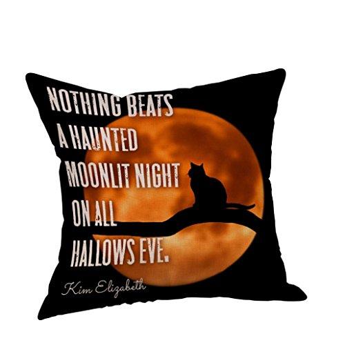 FORH Chic Zuhause Dekorationen Kissen Fälle Halloween Karneval Theme nette muster Drucken Sofa Kissenbezug Bett Kissenbezug Größe: (45cm * 45cm) (D)
