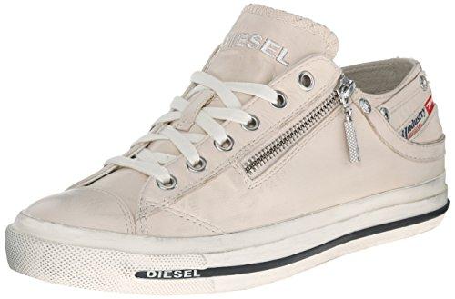 Diesel Magnete Expo-Zip Low W-Sh, Sneaker Donna Weiß (T2003 White)