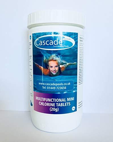 CASCADE POOLS Mini-Chlor-Tabletten (20 g) für heiße Röhren, Ersatzbecken - Spa Tabs Für Chlor