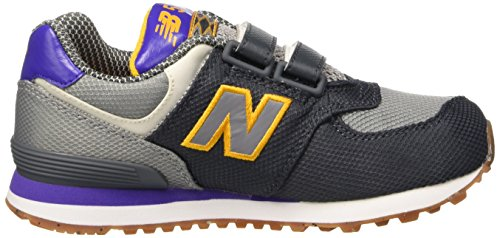 New Balance Unisex-Kinder K_574v1 Low-Top Mehrfarbig (Dark Grey/Blue/Light Grey)