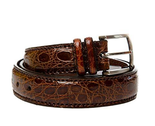Sendra Boots Cinturon de piel de cocodrilo modelo 9214 (100, CUERO)