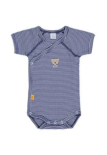 Steiff Baby-Jungen Body 1/4 Arm, Blau (Baby Blue 3023), 62