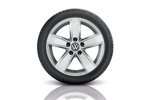 Preisvergleich Produktbild VW WKR Corvara 6, 5x16 5 / 112 / 33 Alu-Komplettrad Gar. 205 / 60 R16 96H XL,  Semperit - 7N007376G8Z8S