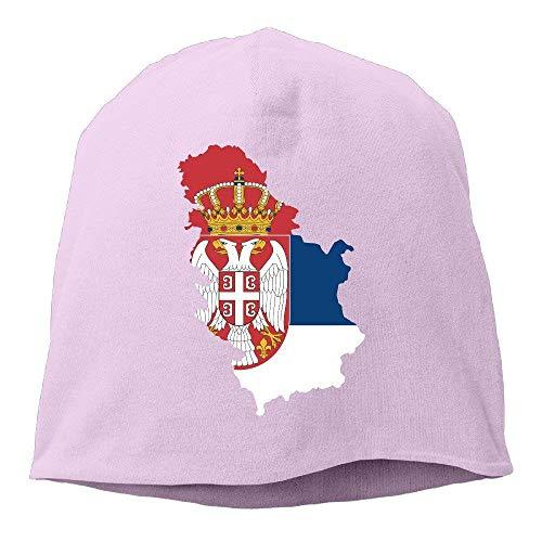 Hunde Kostüm Time Adventure - Zhgrong Caps Unisex Daily Knitted Hat, Serbia Map Skull Cap for Mens & Womens Trucker Cap