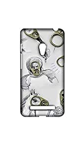 Beautiful Scratch Drawing With Opner Mobile Back Cover/Case For Asus Zenfone 5