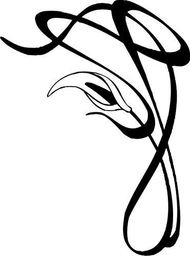 T-Shirt E1070 Schönes T-Shirt mit farbigem Brustaufdruck - Logo / Grafik - Comic Design - abstraktes Pflanzen Tribal mit Blüte Mehrfarbig