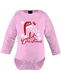 Mikalino Langarm Babybody My First Christmas 2016