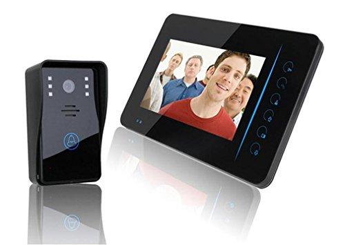 Preisvergleich Produktbild Video Türklingel Wi-Fi aktiviert Video Türklingel sichtbar HD Nachtsicht Smart Türklingel 7-Zoll-Display