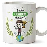 Lehrer Tasse/Becher / Mug Geschenk Schöne and lustige kaffetasse Lehrer der Welt - Keramik 350 ml