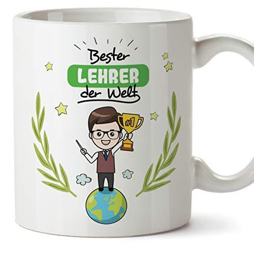 Lehrer Tasse/Becher/Mug Geschenk Schöne and lustige kaffetasse - Bester Lehrer der Welt - Keramik 350 ml