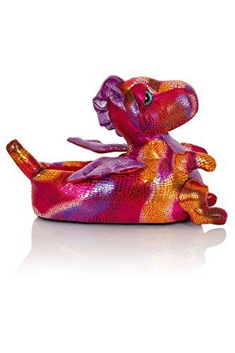 Unisex Tierhausschuhe aus Plüsch - Kinder & Erwachsene Donna Dragon