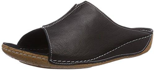 Andrea Conti 0027423002, Chaussures de Claquettes femme Noir - Schwarz (schwarz 002)