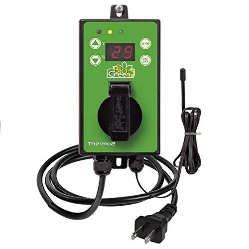 Bio Green Digital-Thermostat, grün,  mit Sommer/Winter funktion IP X4 spritzwassergeschützt -