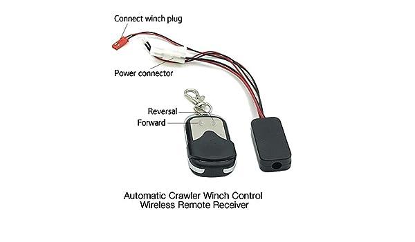 EBILUN Automatique Crawler Treuil t/él/écommande r/écepteur pour 1//10/D90/SCX10/Off-Road Escalade de Voiture Camion