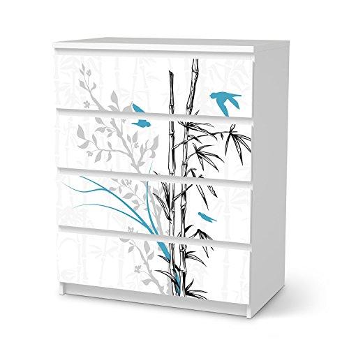 IKEA Malm 4 Schubladen Möbel-Folie Design Bamboo 1 Schutz Dekorations-Element