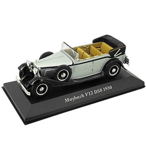 modellino-maybach-v12-ds8-1930-143-argento-nero