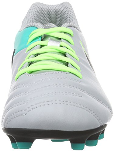 Nike Tiempo Rio Iii Fg, Chaussures de Running Entrainement Homme, 40.5 EU Gris (Wolf Grey/Black-Clear Jade)