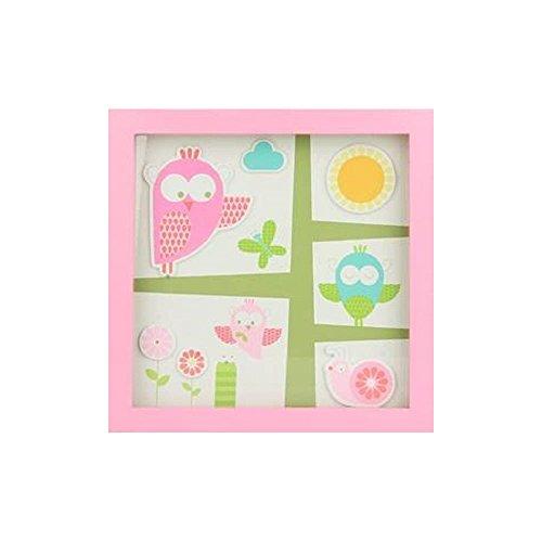 TRÄ PRESENT TR004138 Kinderzimmer Bild Garten, 26 x 26 cm, rosa