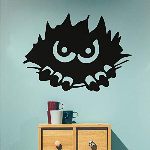 Qqasd Monster Peeking Wandaufkleber Für Kinderzimmer Halloween Dekoration, Scary Monster Stalking Wandtattoos Dekoration Zubehör 57x41 cm