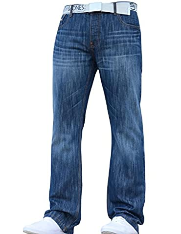 New Mens Smith and Jones Designer Branded Bootcut Fit Relaxed