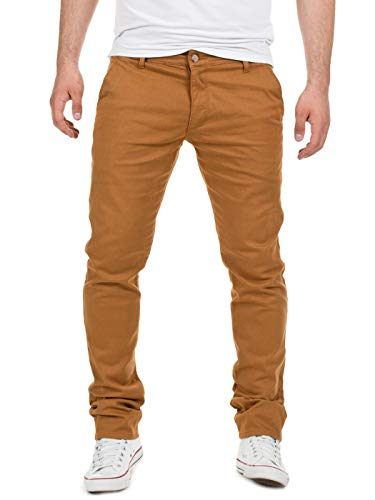 Yazubi Herren Chino Hose, Modell Dustin, Chinohose by Yzb Jeans, Camel (Otter 181018), W36/L34