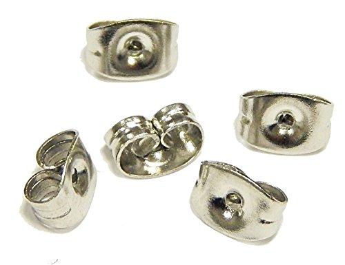 40 Ohrmutter Edelstahl Verschluss für Ohrstecker Ohrring Stopper 6mm M228