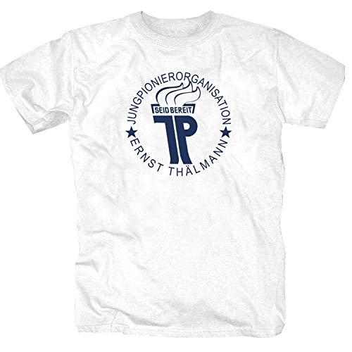 Jungpionierorg. Ernst Thälmann T-Shirt, Weiß, S