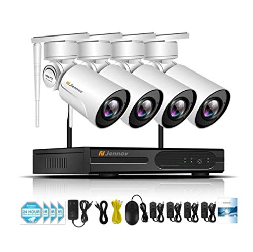 Z-DYQ Wireless Security Camera System, with 4 Outdoor Wetterfest Wireless 1080P HD IP CCTV Camera,Email&Push Notification,Withoutharddrive (Cctv-ausrüstung)