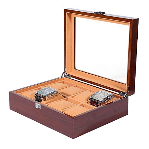 wellery Display Case Mens Watch Display Box, Accessories-Gift for Man, Women, Husband,Brown(8 Watchs) ()