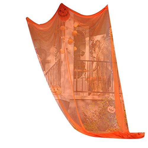 Fisch Laterne Kostüm - huyiko Halloween-Geister-Dekoration, gruselig, für draußen im Freien, Hof, Party, Bar, Zubehör, Orange