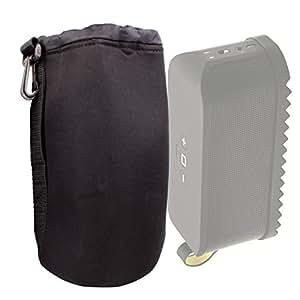 Housse étui pochette noir pour JBL Pulse 1, JBL Charge 2 et Charge 2+, Flip 2 & Flip 3, Jabra Solemate et Bose SoundLink Mini enceintes portables Bluetooth - DURAGADGET