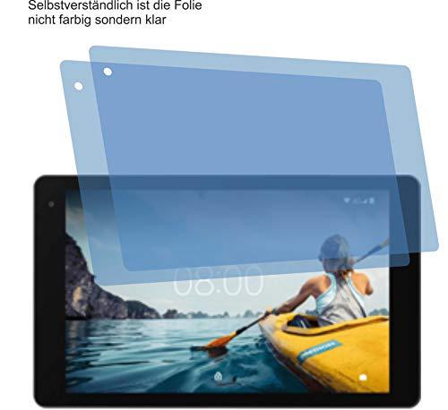 2X Crystal Clear klar Schutzfolie für MEDION LIFETAB P10610 P10612 Bildschirmschutzfolie Displayschutzfolie Schutzhülle Bildschirmschutz Bildschirmfolie Folie