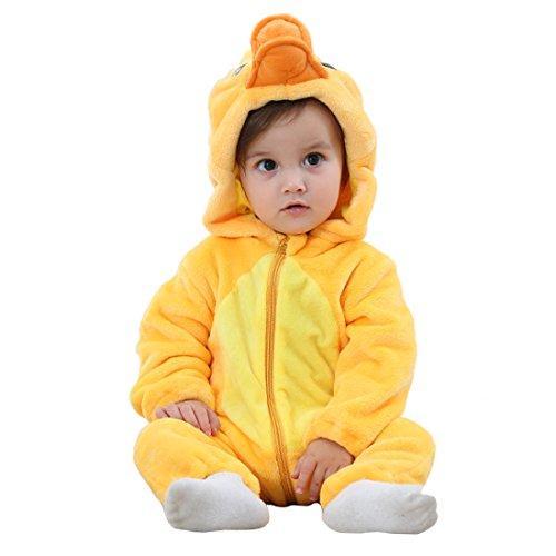 GWELL Kinder Baby Tier Kostüme Tieroutfit Cosplay Jumpsuit Schlafanzug Mädchen Jungen Winter Nachtwäsche Strampler Ente Körpergröße 79-88cm