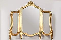 Idea Regalo - Vintagevibe Grande Nuovo splendido Design Antico Oro Specchio da Tavolo 2FT5x 2FT10