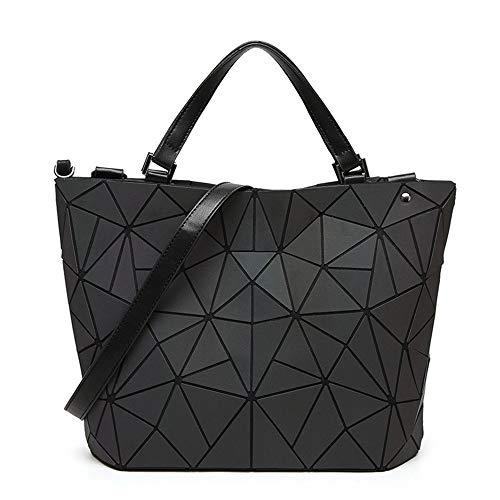 LYLb Lingge Tasche Bunte leuchtende Farbe Geometrie Eimer Tasche Damen Schulter diagonal Paket koreanische Version der Handtasche (größe : M)